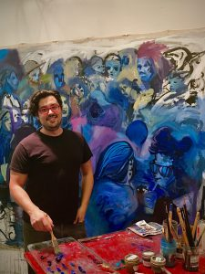 Color, Art History, and Leisure in MFA Student Mike Serafino's studio