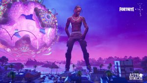 "Travis Scott Holds ""Out of This World"" Fortnite Concert"
