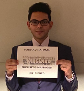Farewell, From Farhad Rahman, Business Manager
