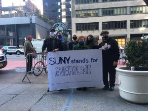 CUNY and SUNY Students Protest Outside Gov's Office