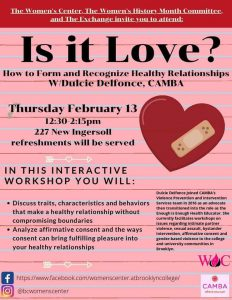 """Women's Center Says: """"Nothing Says I Love You Like a Healthy Relationship"""""""