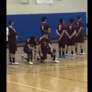 BC Volleyball Players Kneel During Israeli Anthem