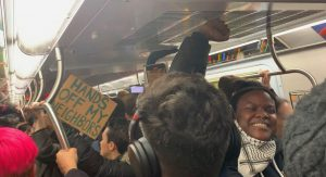 New Yorkers Protest MTA, Policing