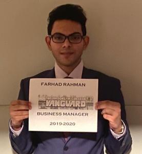 Farewell, From Farhad Rahman, Business Manager