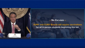 Cuomo Announces All of CUNY Must Get Vax to Return to Campus