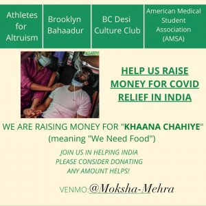 BC Clubs Start Fundraiser for India's COVID Relief Efforts
