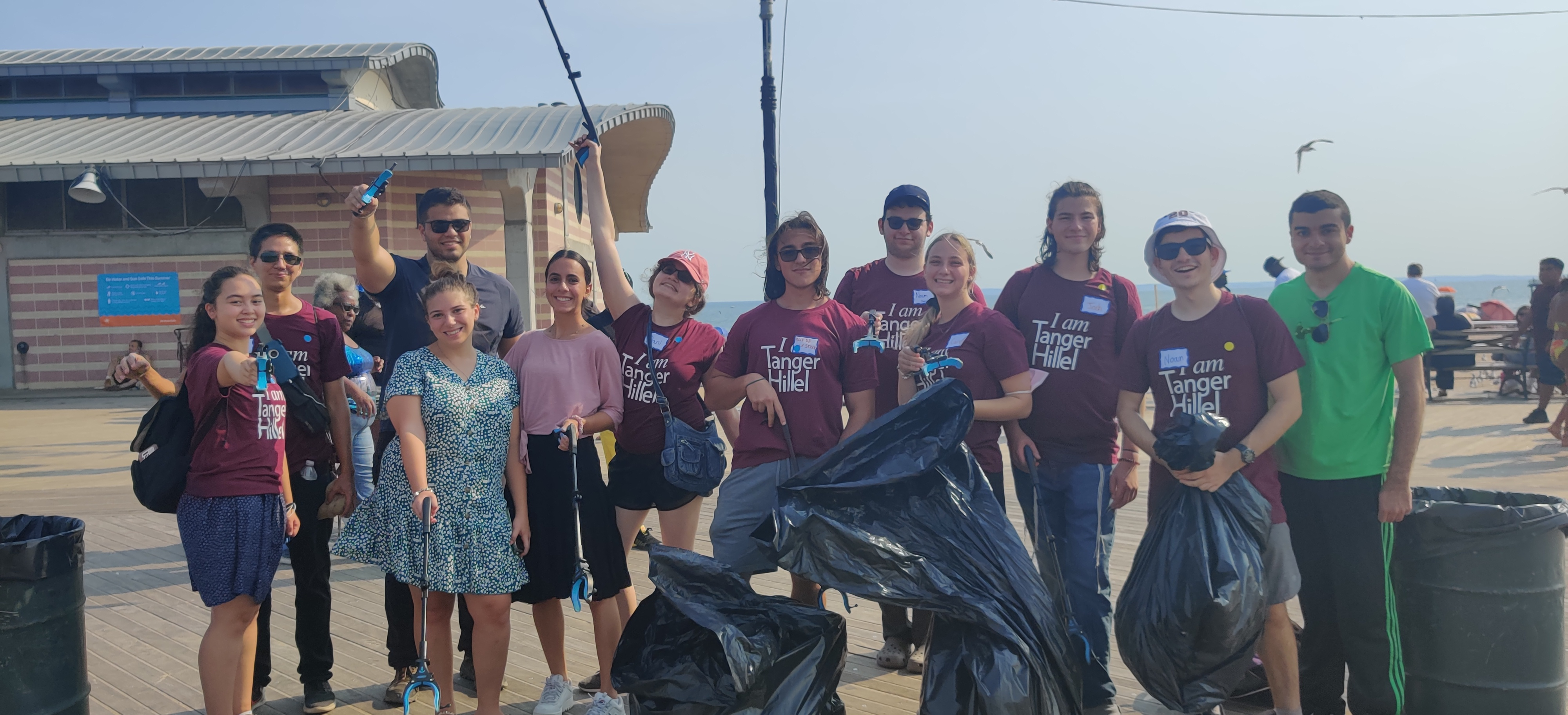 Tanger Hillel Cleans Up Coney Island for Reverse Tashlich