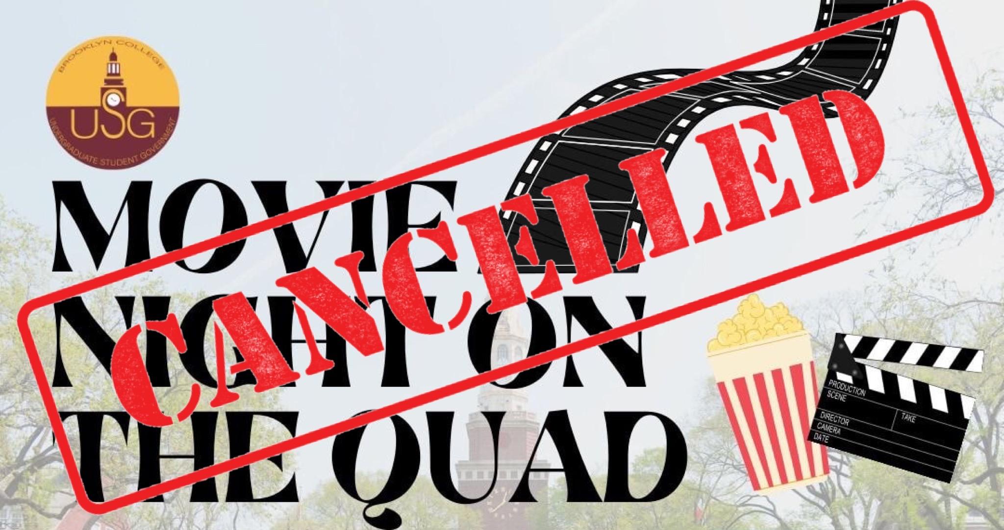 USG Postpones First Fall Movie Night