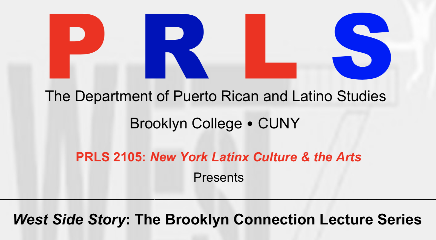 """PRLS Dept. Launches """"West Side Story"""" Lecture Series"""